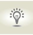 glowing bulb icon vector image