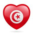 Heart icon of Tunisia vector image