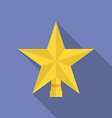 Icon of Christmas Star Flat style vector image