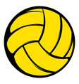 yellow volleyball ball icon icon cartoon vector image