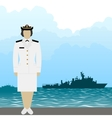 Navy US Army officer-1 vector image