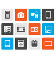 Flat technical media and electronics icons vector image vector image