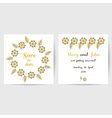 Wedding Postcard With Yellow Flowers vector image