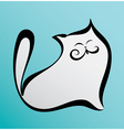 fat happy cat in cartoon style vector image vector image