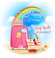 summer holidays design vector image