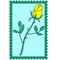 Flower on stamp vector image vector image