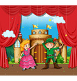 Children doing stage play vector image