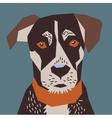 Dog flat head portrait vector image