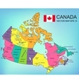 Canada map with provinces All territories are vector image