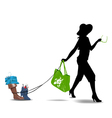 obedient fashion vector image vector image