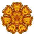 abstract gold mandala vector image
