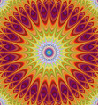 Abstract mandala fractal design background vector image