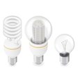 Electric light bulbs isometric icon set vector image