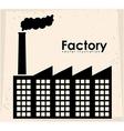 Factory design vector image
