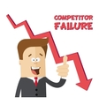 Happy businessman or manager rejoices failure vector image