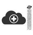 health care cloud icon with people bonus vector image