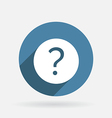 question mark Circle blue icon with shadow vector image