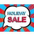Sale poster with HOLIDAY SALE text Advertising vector image
