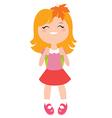 Schoolgirl character vector image