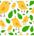 seamless pattern vibrant branch with canary yellow vector image