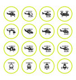 set round icons of helicopters vector image