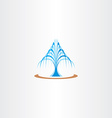 spring water fountain icon vector image