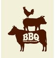 bbq fresh and delicious design vector image