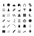 gym equipment icons vector image vector image