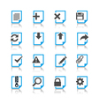 Document icons reflection Vector Image