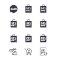sale discounts icons special offer signs vector image vector image