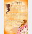 calendar grunge fairy vector image
