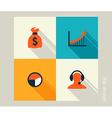 Business icon set Finance marketing e-commerce vector image vector image