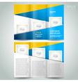 brochure design template geometric abstract elemen vector image vector image