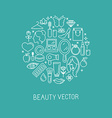 cosmetics2-linear-set1 vector image