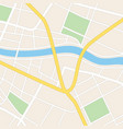 square map with river - streets and parks vector image