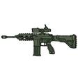 Green automatic gun vector image