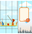 man wash windows vector image vector image