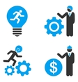 Developer Job Flat Bicolor Icons vector image