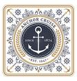 Nautical anchor cruise retro card vector image