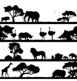 African Landscape Silhouette vector image