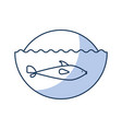 cute whale isolated icon vector image