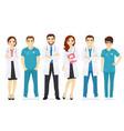 doctors team vector image