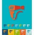 Flat design hair dryer vector image