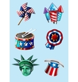 Independence day items vector image
