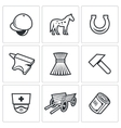 Stable icons vector image