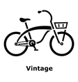 Vintage bicycle icon simple style vector image