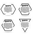 Quote text bubble set Template set vector image