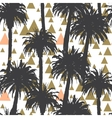 Tropical palm trees seamless background vector image vector image