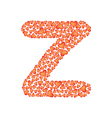 letter z made of valentines vector image
