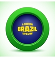 web button using Brazil flag colors vector image